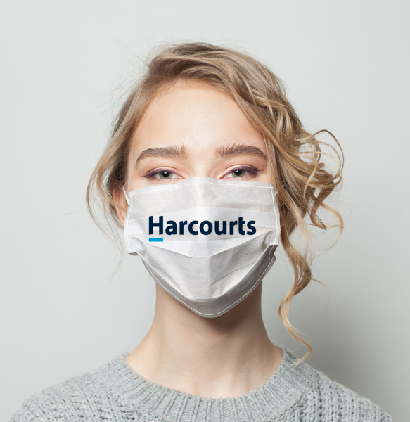 Picture of Harcourts USA Logo (White)