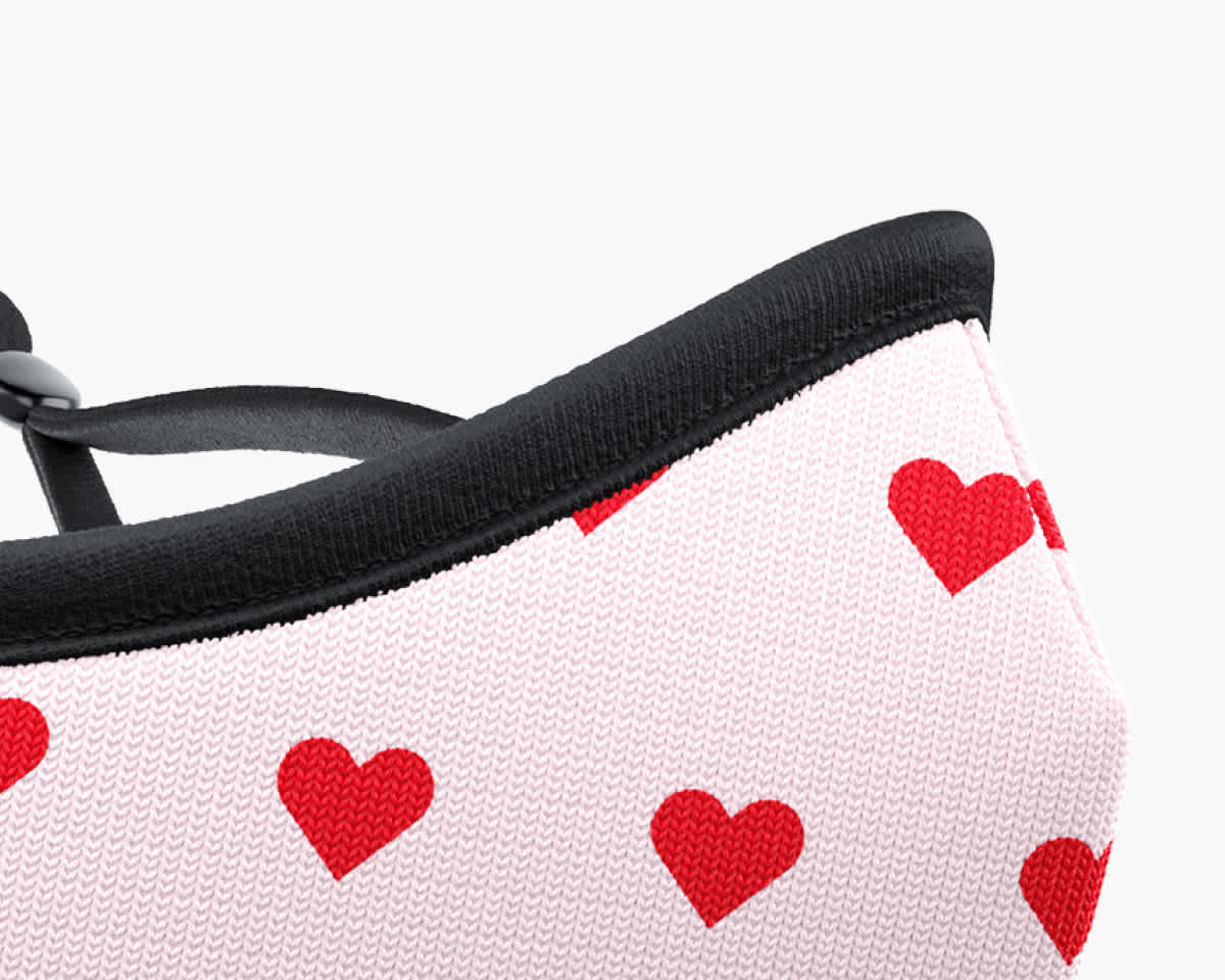 Picture of TRUMASK Child Size Red Heart Design