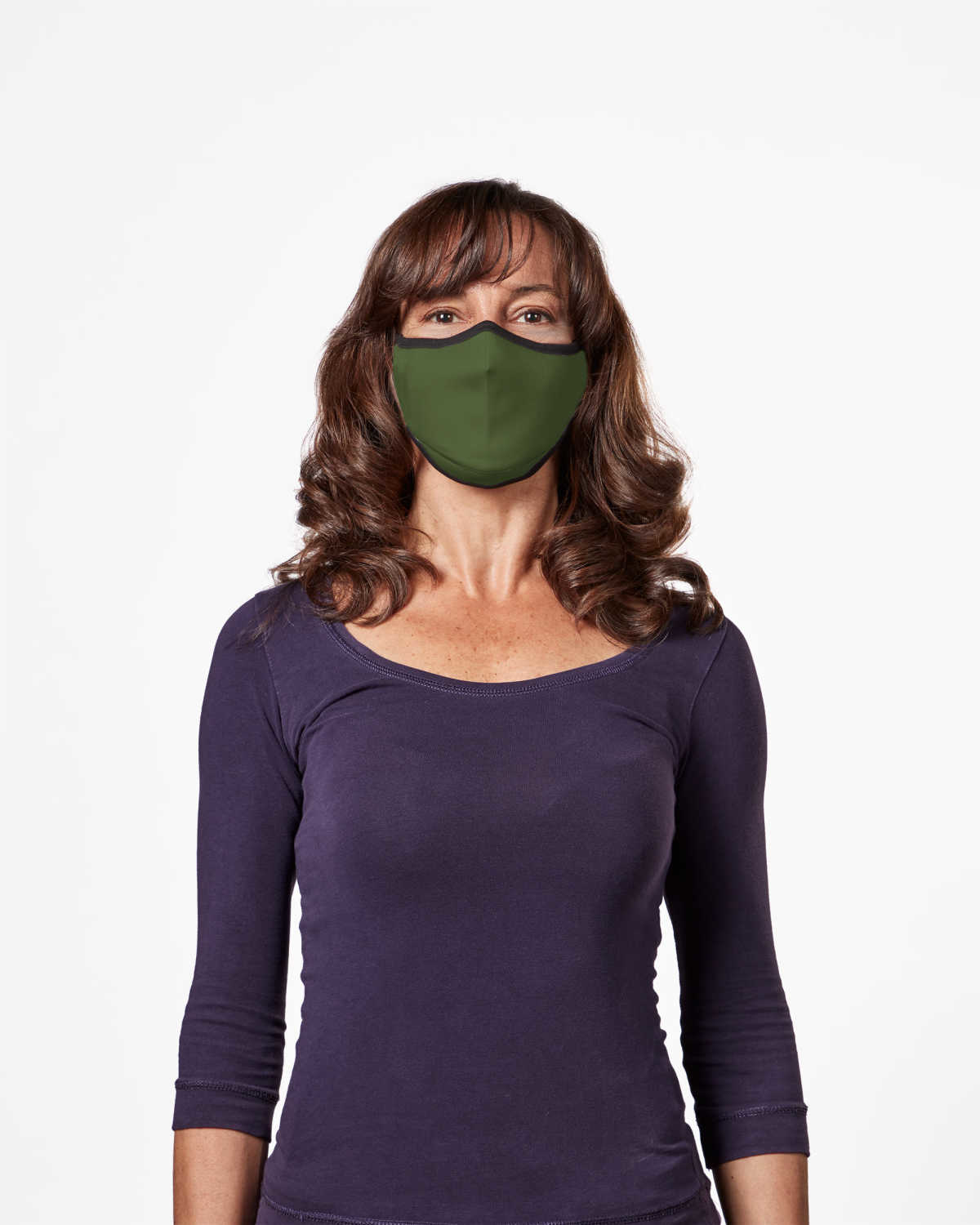Picture of TRUMASK Adult Size Solid Olive Green Design