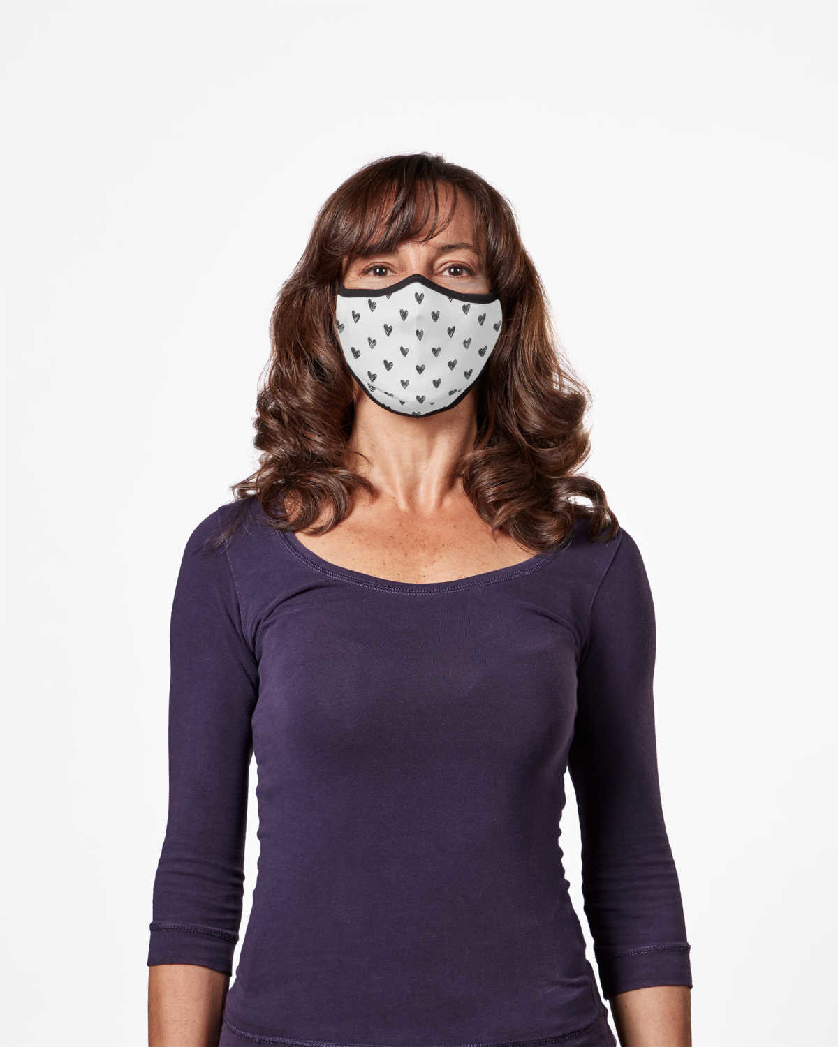 Picture of TRUMASK Adult Size Black Heart Design